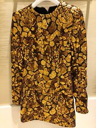 Balmain Womens Nwt Gold Sequin And Black Mini Dress Us6 Fr38 Sold Out