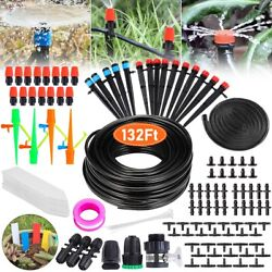 Drip Irrigation Kit Garden Watering Auto System Misting Cooling Lawn Plant 132ft