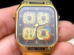 Citizen 8984 Digi-ana Jetboy 228/80and039s Robot Antique Digital Menand039s Watch