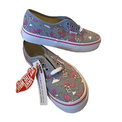 Vans Off the Wall Kids Girls Lace Up Sneakers Size US 2.0 #721356 New w o Box