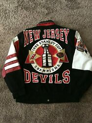 Jeff Hamilton New Jersey Devils 1995 Stanley Cup Champions Jacket Size Large