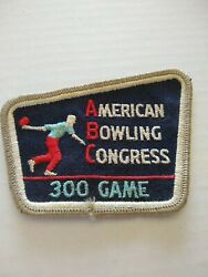 Vintage 300 Game Patch American Bowling Congress Abc Vintage Perfect Game Award