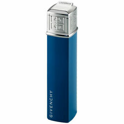 Givenchy G16 Dia Silver Blue Lacquer Piezo Gas Lighter Soft Flame