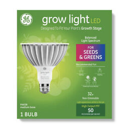 Ge Par38 Grow Light With Balanced Spectrum Seeds And Greens Led Light Bulb-clear
