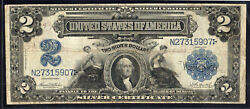 Us Series Of 1899 Silver Certificate - 2 Two Silver Dollars - Teehee And Burke