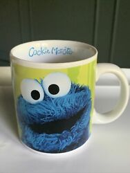"""Sesame Street Cookie Monster """"me Want Cookie"""" Coffee Mug/cup 2006 Collectible"""