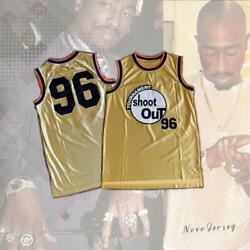Birdie 96 Above The Rim Tupac Shakur Shoot Out Basketball Gold Jersey