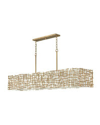 Fredrick Ramond Fr33109 Farrah 10 Light 60w Linear Chandelier - Gold