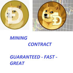 6 Dogecoins Dogecoin Doge Crypto Currency Mining Contract