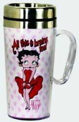 Betty Boop Acrylic And Stainless Steel Travel Mug With Handle All This