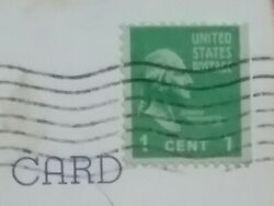 Vintage Rare George Washington 1 Cent Valuable Stamp Andcard