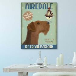 Airedale print Airedale Ice Cream Airedale terrier Airedale decor Wall dog