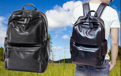 Vintage 14#x27;#x27; Leather Laptop Backpack for Women Men School College TravelBackpack $45.99