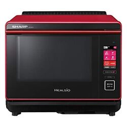 Sharp Healsio Ax-xa10-r Red Baking With Water 2-stage Cooking Type Japan 2303
