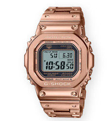 Authentic Casio G-shock Metal Rose Gold Solar Powered Menand039s Watch Gmwb5000gd-4