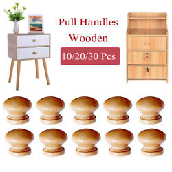 New Drawer Knobs With Insert And Screw Hardwood Knob Wooden Wood Handles Pull