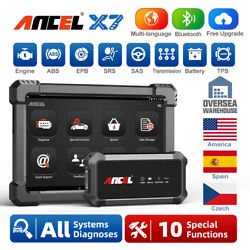 Ancel X7 Bluetooth All System Tablet Auto Diagnostic Tool Car Obd2 Scanner Us
