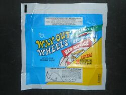 1970 Way Out Wheels Card Wrapper Topps Whale Ad