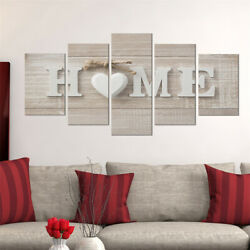 5Pcs Concise Fashion Wall Paintings Home Letter Prints Photo Painting Home Decor