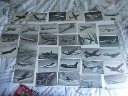 Vintage Arcade Exhibit Cards Airplanes Jets Helicopters 1950and039s-60and039s Lot Of 29