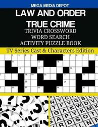 Law And Order True Crime Trivia Crossword Word Search Activity Puzzle Book Tv S