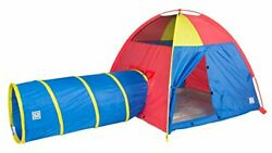 Pacific Play Tents 20414 Kids Hide-me Dome Tent And Crawl Tunnel Combo For In...
