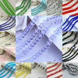 Faceted Rondelle Jewelry Bicone Crafts Glass Crystal Beads Multicolor Diy
