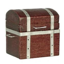 Dolls House Wooden Attic Trunk Ottoman Toy Box Chest Miniature 112 Accessory