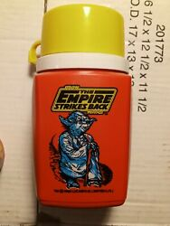 Vintage 1980 Star Wars The Empire Strikes Back Yoda Red Thermos