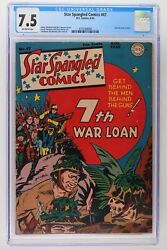 Star Spangled Comics 47 - Dc 1945 Cgc 7.5 Last War Cover In Title.