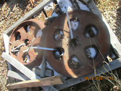 Case Rc Sc Front Steel Wheels Great Shape Tractor Parts J I