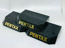 [rare 3 Pieces] Vintage Pentax Store Camera Lens Display Stand From Japan S028