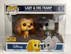 Funko Pop Disney Lady And The Tramp 2 Pack Hot Topic Exclusive W/protector