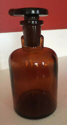 T.c.w. Co. Golden Amber Apothecary Bottle