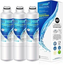 Fit For Samsung Rf23hcedbww/aa Rs261mdbp/xaa Rs25j500dsg/aa Water Filter 3 Pack