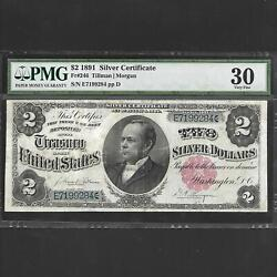 Fr 246 2 1891 Silver Certificate Pmg 30 Ships Free