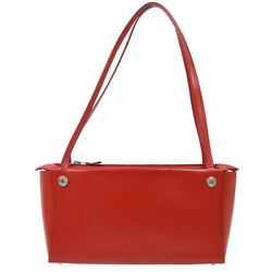 Hermes In The Box Hand Bag □g 29 Purse Red Box Calf Vintage Authentic 91427