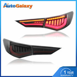 Set2 Smoked Rear Lamps Led Tail Lights Assembly For 2020-2021 Nissan Sentra