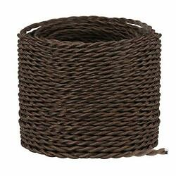 32.8ft Twisted Cloth Covered Wire Brown 18/2 Cloth Covered Electrical Wire 18...