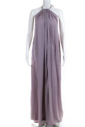 Kaufmanfranco Womens Violet Halter Maxi Dress Lavender Size Extra Small 11277983