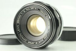 Near Mint- Canon 35mm F/2 Leica L39 Ltm Screw Mount Wide Angle Lens From Japan