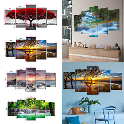5pcs Canvas Print Picture Paintings Photo Wall Art Home Decor Sunset Forest Gift
