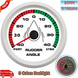 85mm 0-190ohm Rudder Angle Gauge Port-stbd Waterproof 8colors For Car Boat Yacht