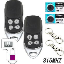2x For Chamberlain Liftmaster Garage Door Opener Remote 355lm 365lm 370lm 315mhz