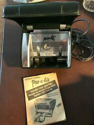 1940and039s Pres-a-lite Automatic Car Cigarette Lighter Dispenser W / Booklet Clamp