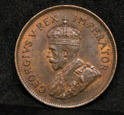 1931 1/2 Penny South Africa, George V. Unc Rare Semi Key Date 106k Minted