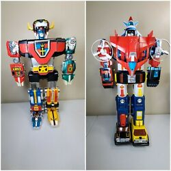 Voltron Yandk Gb-36 1981 Diecast Japan And Voltron Dairugger Japan 1982 Lot Of 2