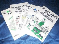 Blackjack Forum Lot Of 5 Vintage Various Volumes And Issues From The Early 1990's