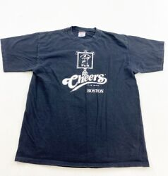 Vintage Cheers Boston Shirt Adult XL Black 1995 Single Stitch Made In USA