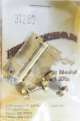 Precision Scale Hon3 31280 Flat Car Chassis W/20 Wheels Brass